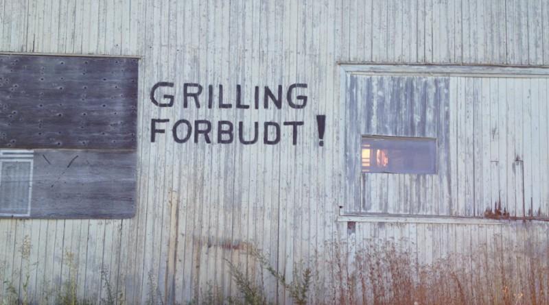 Grilling forbudt