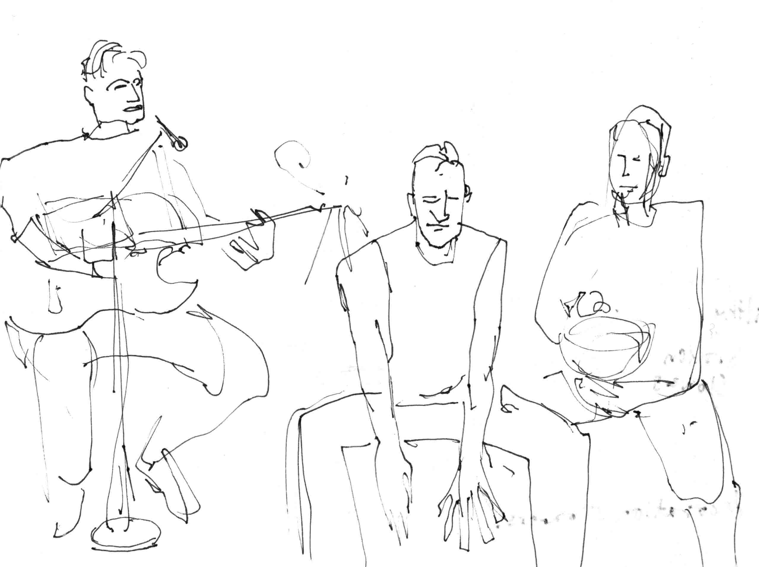 trio kajun gitar og bolle