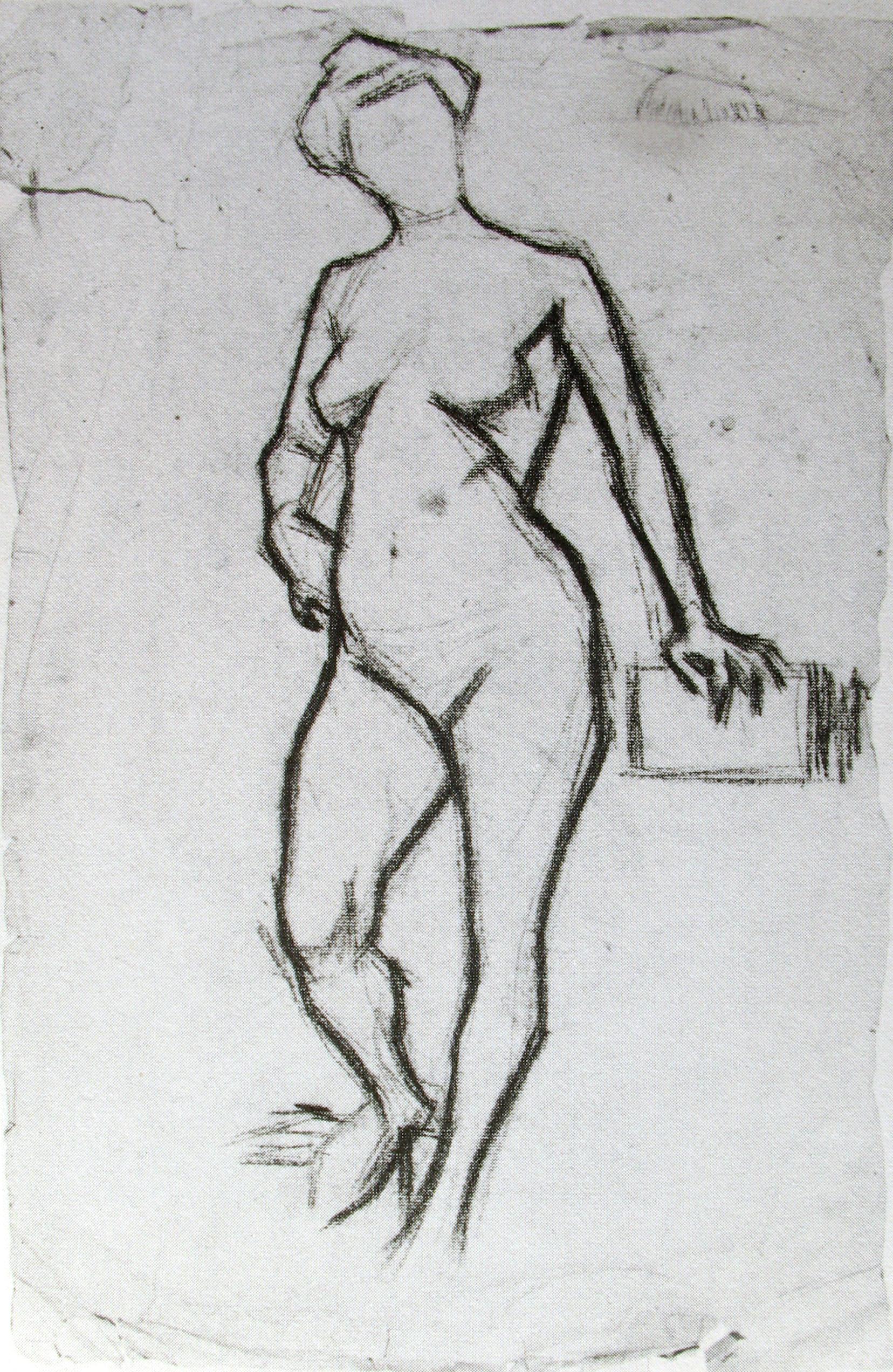Pablo Picasso - croquis - nude 1