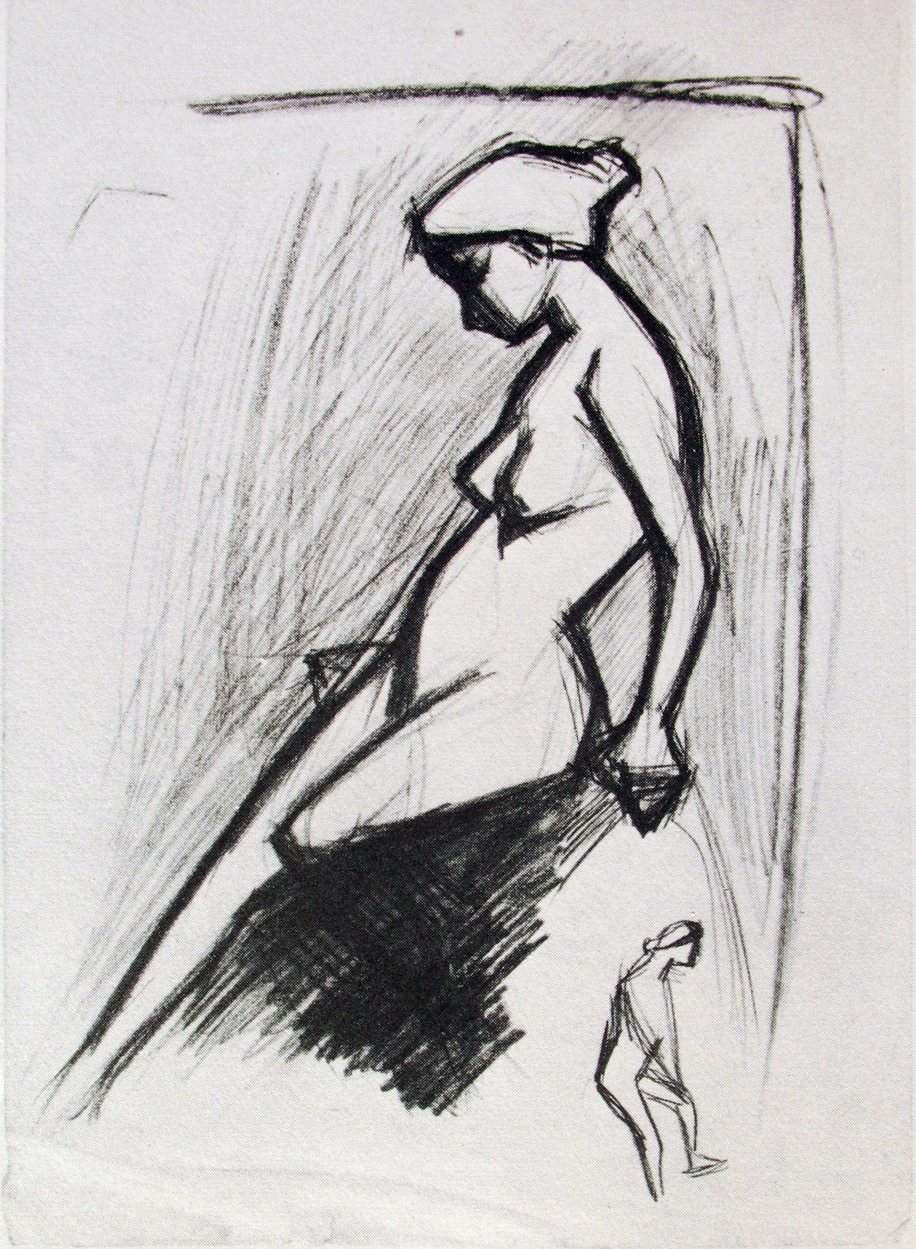 Pablo Picasso - croquis - nude 4